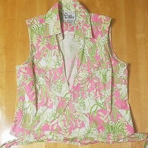 Vintage Lilly Shirt Crop Top Size 8